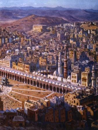 etienne-dinet-view-of-mecca-1918