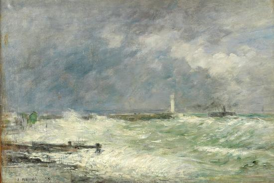 eugene-boudin-entrance-to-the-harbour-at-le-havre-in-stormy-weather-1895