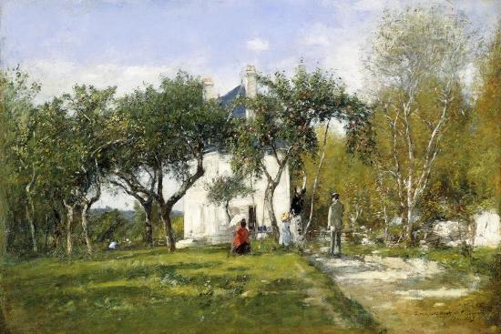eugene-boudin-fervaques-garden-and-house-of-monsieur-jacquette-1877