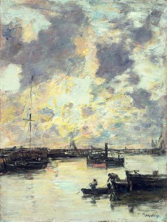eugene-boudin-the-port-circa-1895
