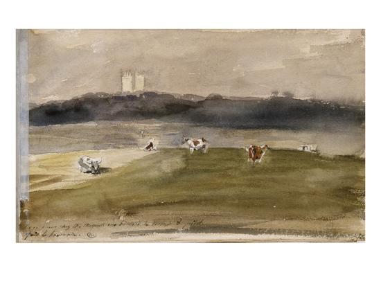 eugene-delacroix-album-d-angleterre-paysage-dans-la-campagne-anglaise-avec-vaches-dans-un-champ-8-9-juillet-1825