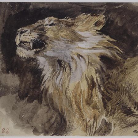 eugene-delacroix-t-de-lion-rugissant
