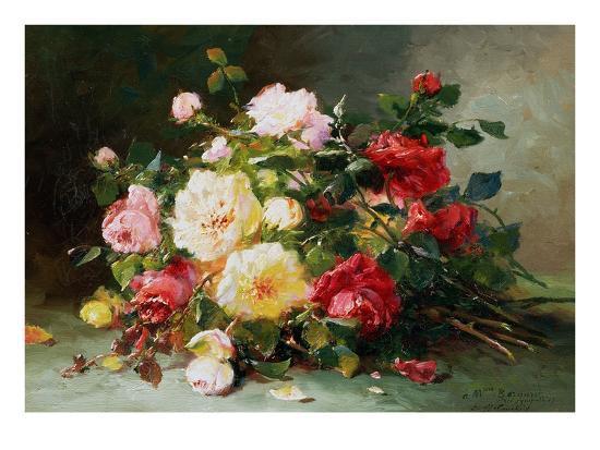 eugene-henri-cauchois-a-bouquet-of-roses