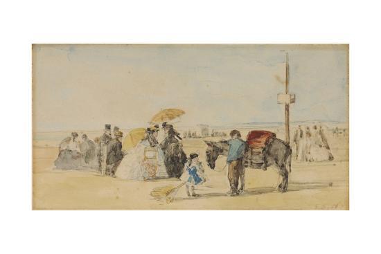 eugene-louis-boudin-on-the-beach-sur-la-plage-1866
