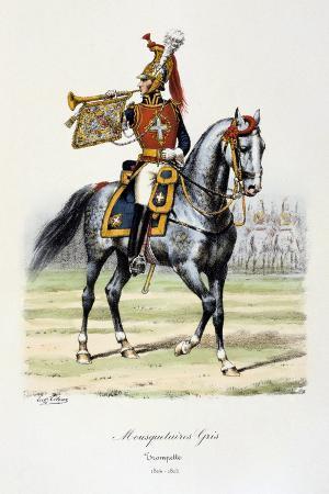 eugene-titeux-mousquetaires-gris-trumpeter-1814-15