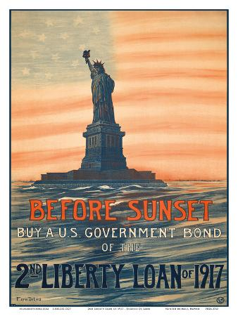 eugenie-de-land-before-sunset-buy-a-u-s-government-bond-of-the-2nd-liberty-loan-of-1917