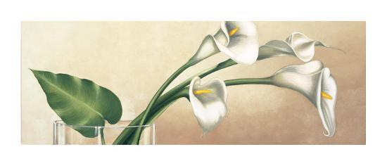 vaso con calle bianche art print by eva barberini at