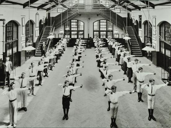 exercise-drill-crawford-street-school-camberwell-london-1906