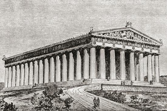 exterior-of-the-parthenon-in-athens-greece
