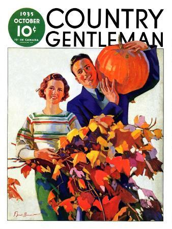 f-sands-brunner-couple-in-fall-country-gentleman-cover-october-1-1935