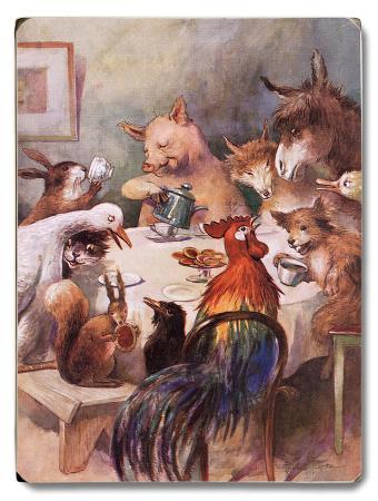 farm-animals-dining