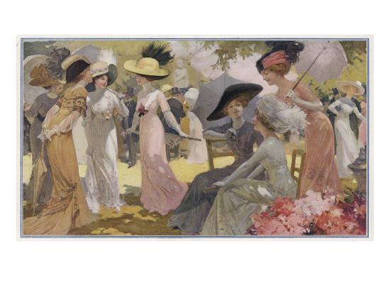 fashionable-ladies-at-a-paris-garden-party