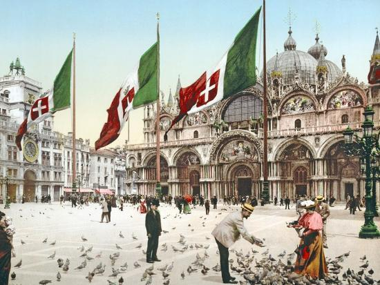 feeding-the-pigeons-in-st-mark-s-square-venice-c-1900