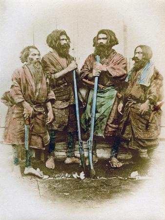 felice-beato-group-of-ainu-people-japan-1882