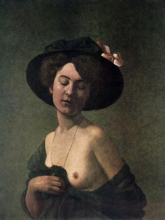 felix-vallotton-lady-in-a-hat-1908