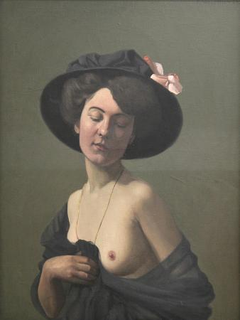 felix-vallotton-young-woman-in-a-black-hat-1908
