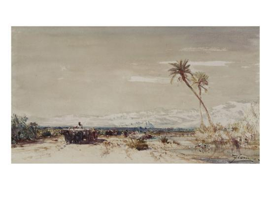 felix-ziem-beyrouth-les-deux-palmiers