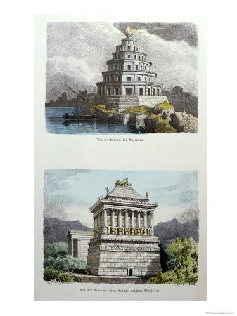 ferdinand-knab-the-great-lighthouse-of-alexandria-and-the-mausoleum-at-halicarnassus