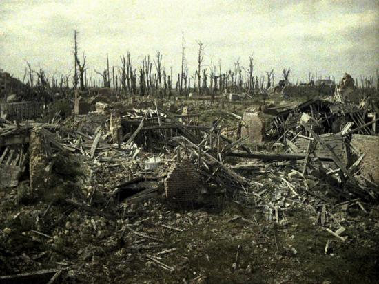 fernand-cuville-buildings-and-trees-destroyed-by-artillery-fire-chaulnes-somme-france-1917