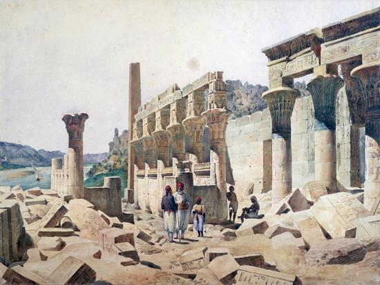 fh-naudin-temple-of-venus-athor-philae-19th-century