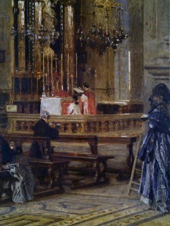 filippo-carcano-interior-of-church-of-santa-maria-presso-san-celso
