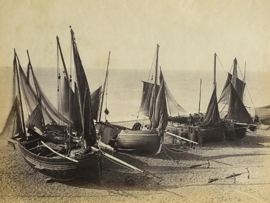 fishing-boats-pulled-up-onto-the-beach-at-shoreham-by-sea-c-1880