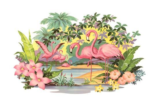 flamingos-in-the-tropics