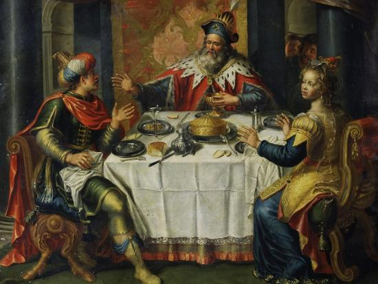 flemish-school-king-ahasuerus-xerxes-giving-banquet-for-esther-17th-century-painting-on-copper