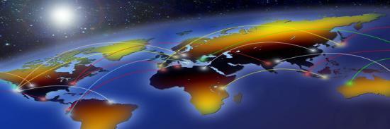 flight-plan-marked-on-a-globe