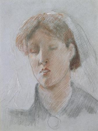 ford-madox-brown-the-artist-s-wife-emma-on-her-wedding-day-1853