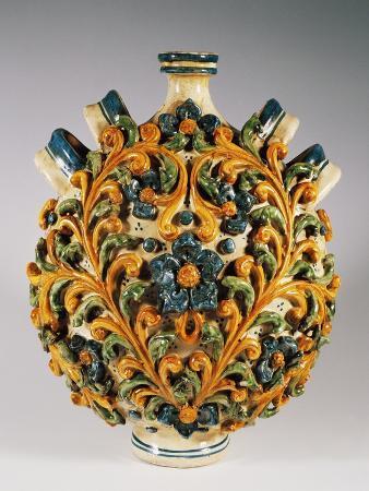 four-handled-pilgrim-bottle-with-18th-century-style-decoration-ceramic