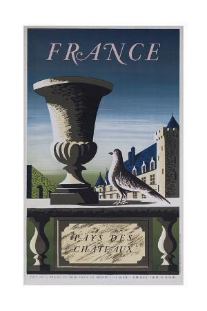 france-country-of-chateau-french-travel-poster