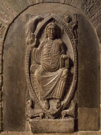 france-toulouse-basilica-of-st-sernin-relief-of-christ-in-majesty-end-of-11th-century