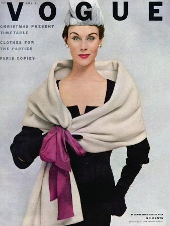 frances-mclaughlin-gill-vogue-cover-november-1952-tied-with-a-bow