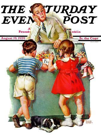 frances-tipton-hunter-penny-candy-saturday-evening-post-cover-august-19-1939