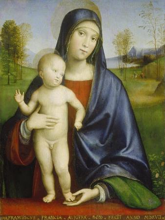 francesco-francia-madonna-with-child-1517