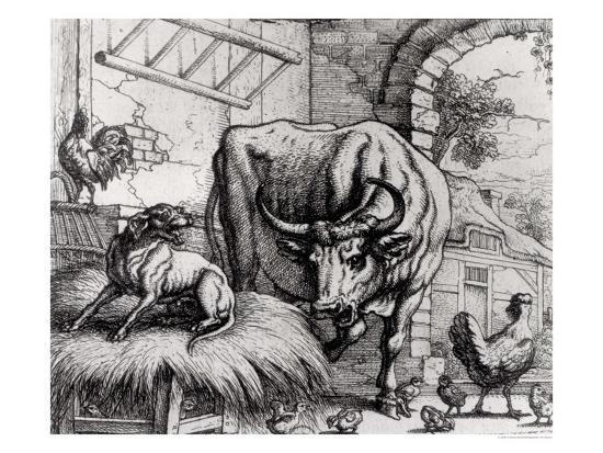 francis-barlow-illustration-for-the-dog-and-the-ox-from-aesop-s-fables-1666