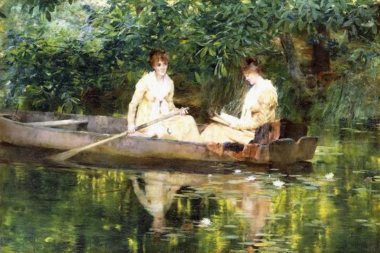 francis-coates-jones-women-in-a-rowboat