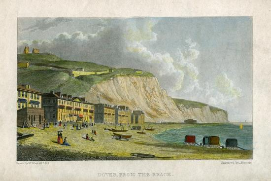 francis-dover-from-the-beach-19th-century