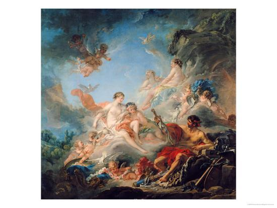 francois-boucher-the-forge-of-vulcan-or-vulcan-presenting-arms-for-aeneas-to-venus-tapestry-cartoon-1757
