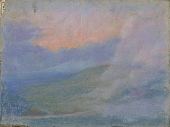 francois-garas-paysage-de-montagne-au-soleil-couchant-avec-effets-de-nuages