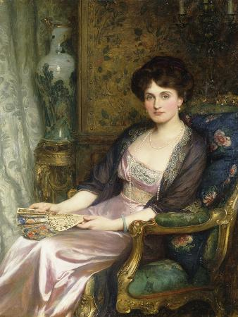 frank-bernard-dicksee-portrait-of-a-lady-said-to-be-the-artist-s-wife-1911