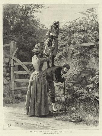 frank-dadd-blackberrying-in-a-devonshire-lane