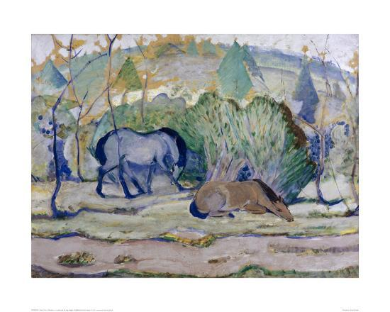 franz-marc-horses-in-a-landscape