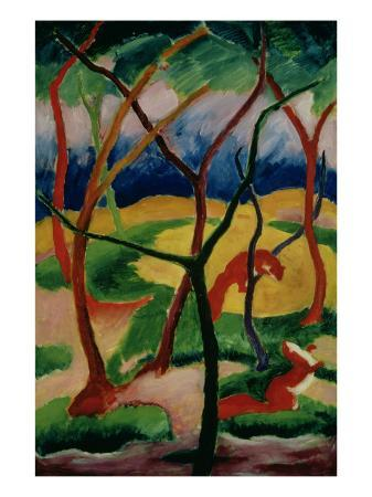 franz-marc-weasels-playing-1911