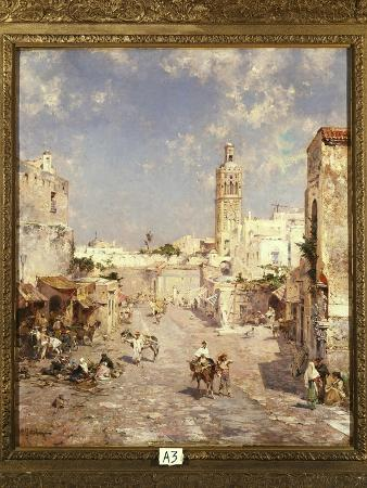 franz-richard-unterberger-figures-in-a-moorish-town