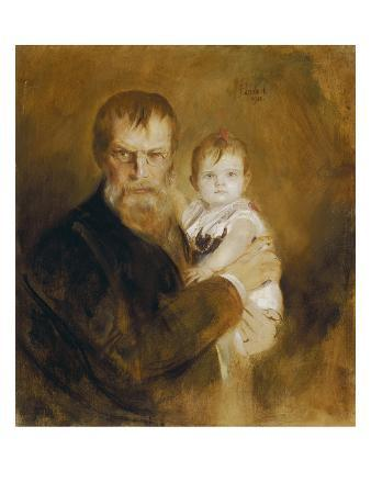 franz-seraph-von-lenbach-self-portrait-with-daughter-1900