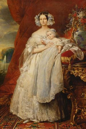 franz-xaver-winterhalter-helene-louise-de-mecklembourg-schwerin-duchess-of-orleans-with-his-son-count-of-paris-1839