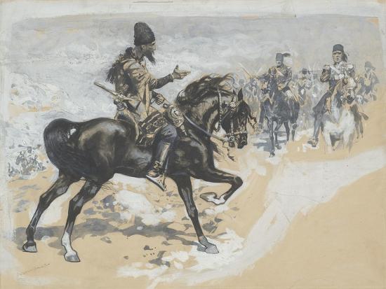 frederic-remington-arabian-chief-and-cavalrymen