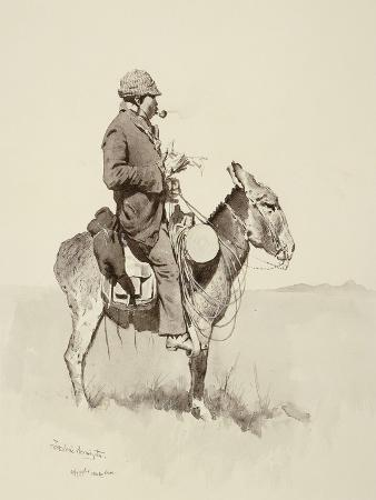 frederic-remington-jack-s-man-william-a-modern-sancho-panza-brush-pen-and-ink-and-gouache-on-paper